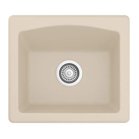 Karran Drop-in or Undermount Quartz Single Bowl Kitchen Sink