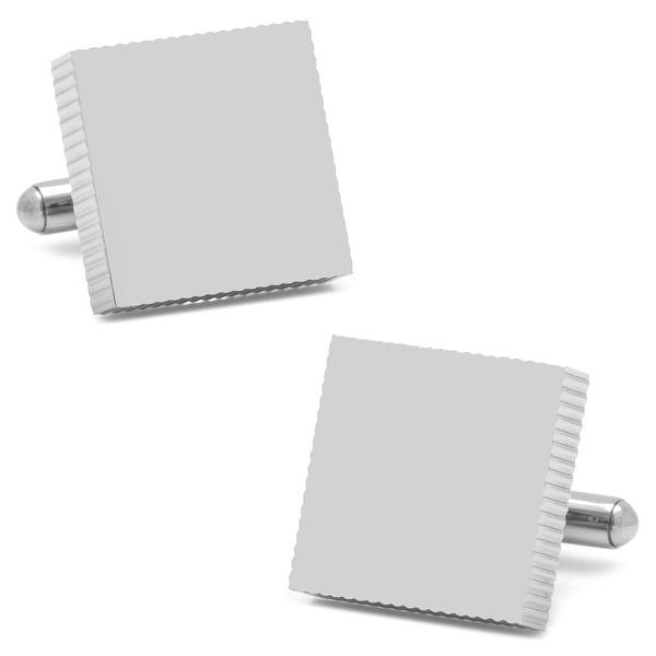 Stainless Steel Engravable Block Cufflinks