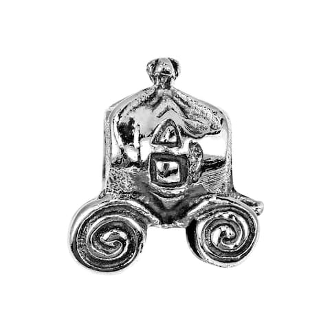 Handmade Enchanting Fairytale Horse Carriage Sterling Silver Charm Pendant (Thailand)