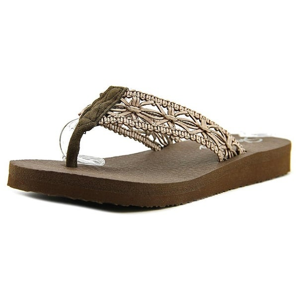 Skechers Meditation - Ocean Breeze Women Open Toe Synthetic Brown Thong Sandal