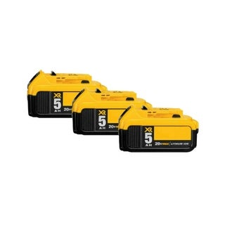 Replacement For DeWalt DCB205 Power Tool Battery (5000mAh, 20V, Lithium Ion) - 3 Pack