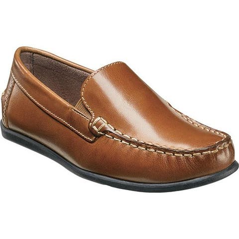 Florsheim Boys' Jasper Venetian Loafer Jr. Saddle Tan Leather