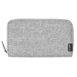 Pacsafe RFIDsafe LX250 - Tweed Grey RFID Blocking Zippered Travel Wallet