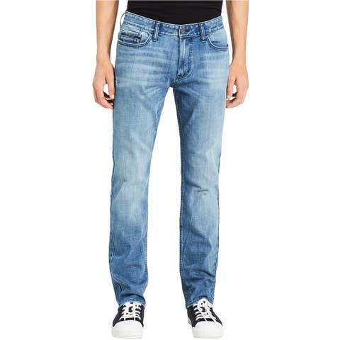 Calvin Klein Mens Cobble Mid Destroy Skinny Fit Jeans