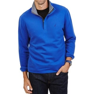 Nautica Mens 1/2 Zip Sweater Mock Neck Fleece