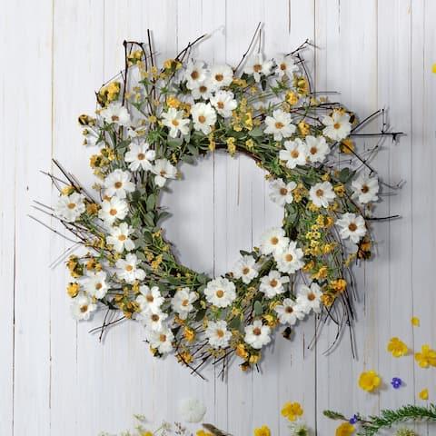 """Daisy & Berry Wreath 22"""""""