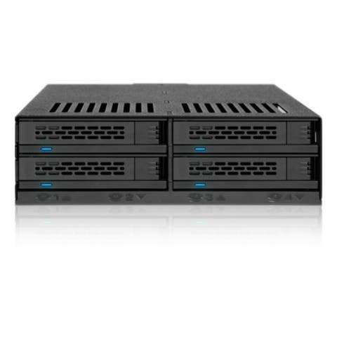 Icy Dock MB324SP-B Icy Dock ExpressCage MB324SP-B Drive Enclosure Internal - Black - 4 x Total Bay - 4 x 2.5 Bay - Serial