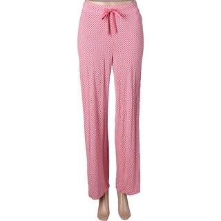 Nautica Womens Long Pajama Bottoms Printed Long Pant