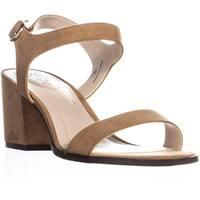 SC35 Mollee Buckle Blck Heel Sandals, Dark Natural - 7 us