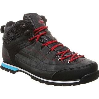 Bearpaw Men's Yosemite Solids Waterproof Hiking Boot Charcoal Suede/Nylon
