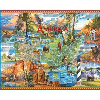 "Jigsaw Puzzle 1000 Pieces 24""X30""-National Parks"