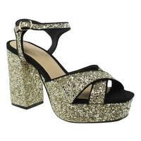 Shellys London Womens Annie Silver Peep Toe Sandals Size 6.5