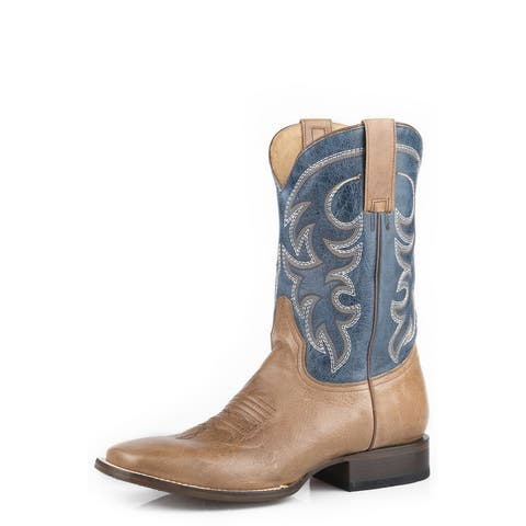 Roper Western Boots Mens Parker Marble Square Toe