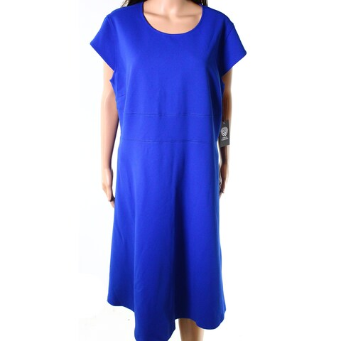 Vince Camuto Womens Plus Cap Sleeve Sheath Dress