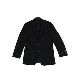 Tasso Elba Men's Solid Color Wool/Cashmere Blend Blazer - Navy