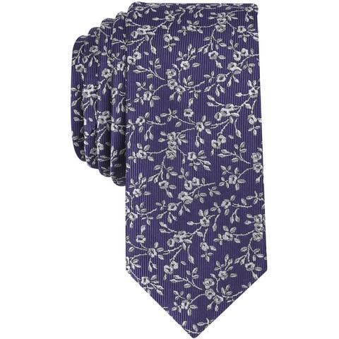 Bar Iii Mens Farens Floral Self-Tied Necktie - One Size