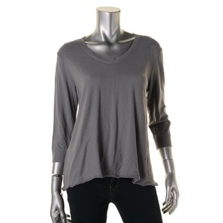 Wilt Womens Knit Hi-Low Pullover Top