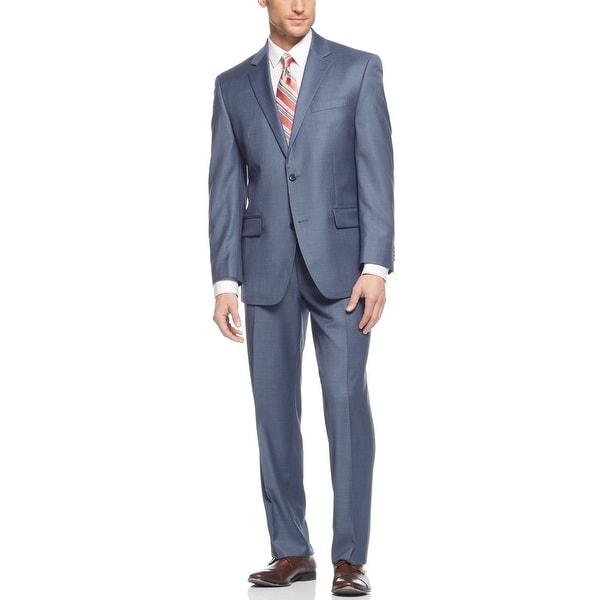 Ralph Lauren Slim Fit Light Blue 2-pc Wool Suit 36 Short 36S Pants 30W