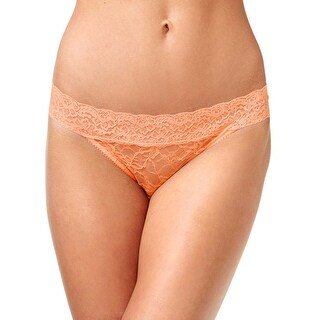 Heidi Klum Womens Neon Coral Stretch Lace Bikini Underwear X-Large