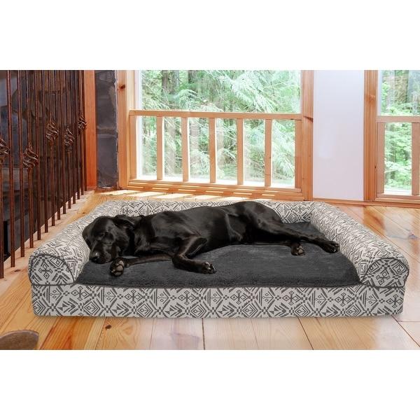 FurHaven Pet Bed | Southwest Kilim Orthopedic Sofa Dog Bed. Opens flyout.