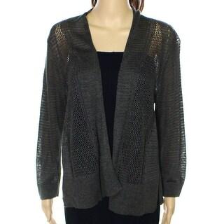 Alfani NEW Green Women's Size Large L Mix-Stitch Cardigan Sweater