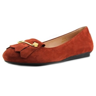 Tod's Ballerina Gomma UK Frangia + Spilla Round Toe Suede Ballet Flats