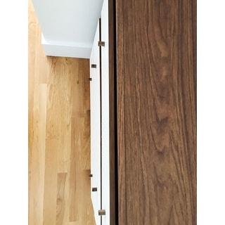 Carson Carrington Trollhattan 3-drawer White/Walnut Wood Chest