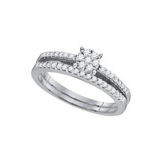 1/3Ctw Diamond Bridal Set 10K White-Gold - White I-J