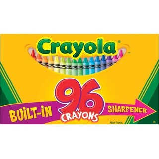 Crayola Standard Sized Crayons in Hinged Box with Sharpener, Pack of 96