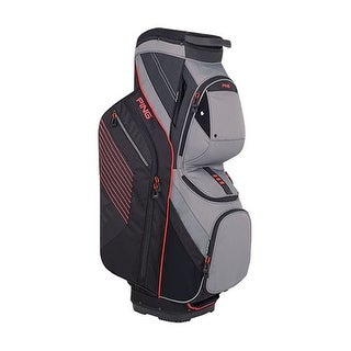 New Ping 2018 Traverse Golf Cart Bag (Black / Silver / Crimson) - black / silver / crimson