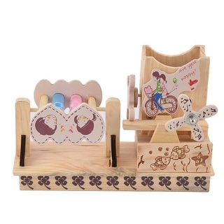 Wooden Lover Pattern Windmill Decor Music Box Desktop Decoration Beige