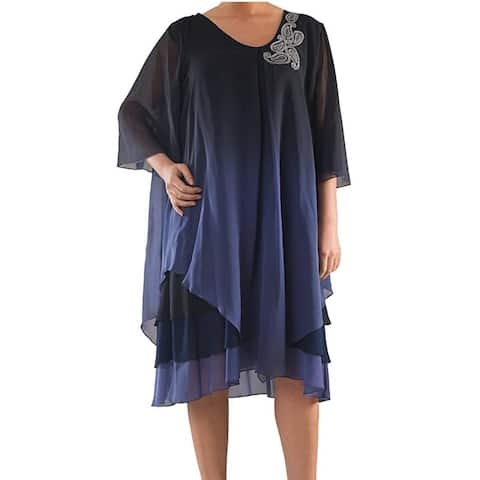 Multi-Layered Dress - Plus Size Clothing - La Mouette Collection