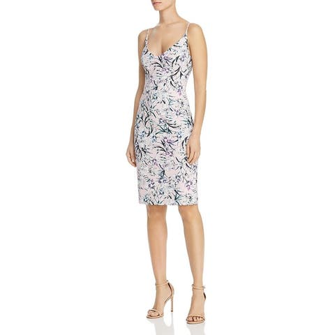 Black Halo Womens Party Dress Floral Print Sleeveless - Ever After