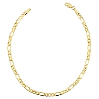 Link to 10k Yellow Gold 3.5-millimeter Figaro Bracelet (7.5-8.5 inches) Similar Items in Men's Jewelry