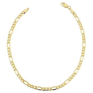 Link to Fremada 14k Yellow Gold-filled Figaro Link Bracelet (8.5-inch) Similar Items in Men's Jewelry