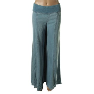 XCVI Womens Tencel Wide Leg Casual Pants - L