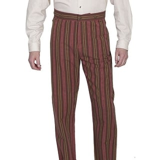 Scully Western Pants Mens Serape Stripe Notched Waistband RW264