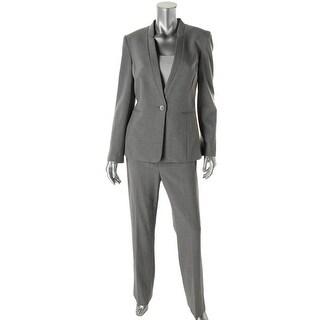 Tahari ASL Womens Charles Heathered 2PC Pant Suit