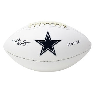 Mel Renfro Signed Dallas Cowboys Logo Football HOF 96 Inscribed JSA