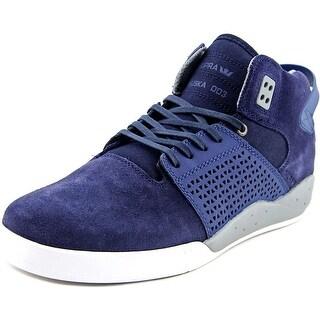 Supra Skytop III Men Round Toe Suede Blue Fashion Sneakers