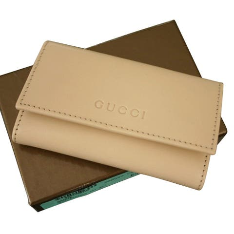 Gucci Unisex Beige Leather Key Chain Holder With Box 260989 9910 - One size