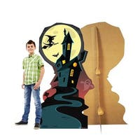 66 x 38 in. Halloween Haunted House Cardboard Standup