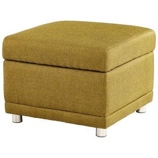 Cyan Design Maro Ottoman Maro Square Wood and Foam Ottoman