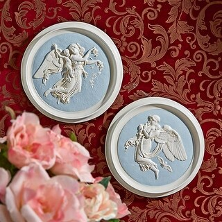 S/ Morning & Night Thorvaldsen Roundels Design Toscano Wall Plaques