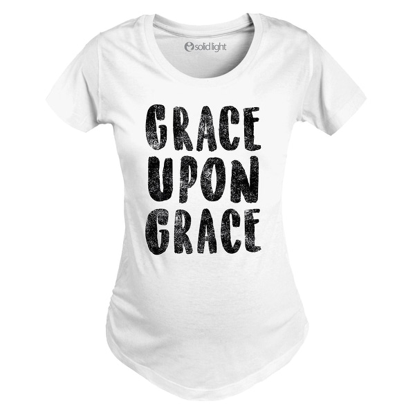 29bddbb88a911 Shop Grace Upon Grace-Maternity Scoop Neck Tee - Free Shipping On Orders  Over $45 - Overstock - 20400319