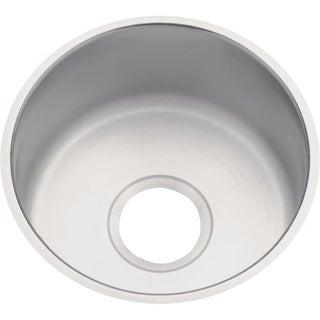 "Elkay DXUH12FB Dayton 12"" Single Basin Undermount 18- Gauge Stainless Steel Bar Sink"