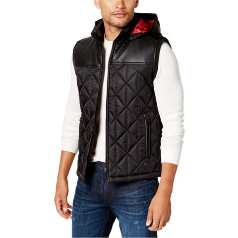 Guess Mens Quilted Outerwear Vest