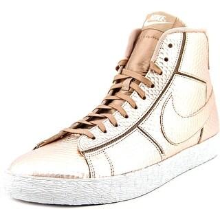 Nike Blazer Mid Women Round Toe Leather Bronze Fashion Sneakers