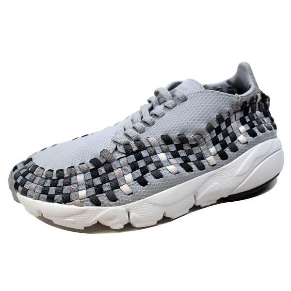 Nike Men's Air Footscape Woven NM Wolf Grey/Black-Dark Grey 875797-004