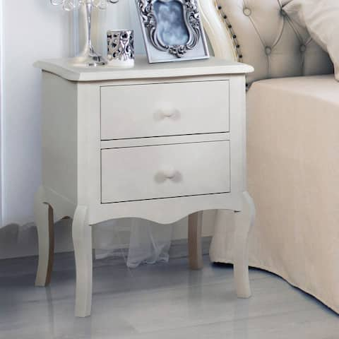 Furniture of America Hoa Traditional Solid Wood 2-drawer Nightstand